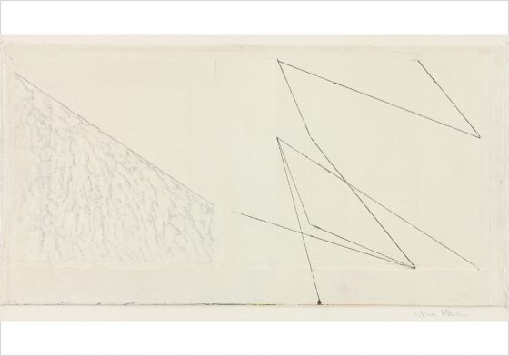 "'Sands', Venetian fresco plaster & ink on paper<br>15"" x 30"""